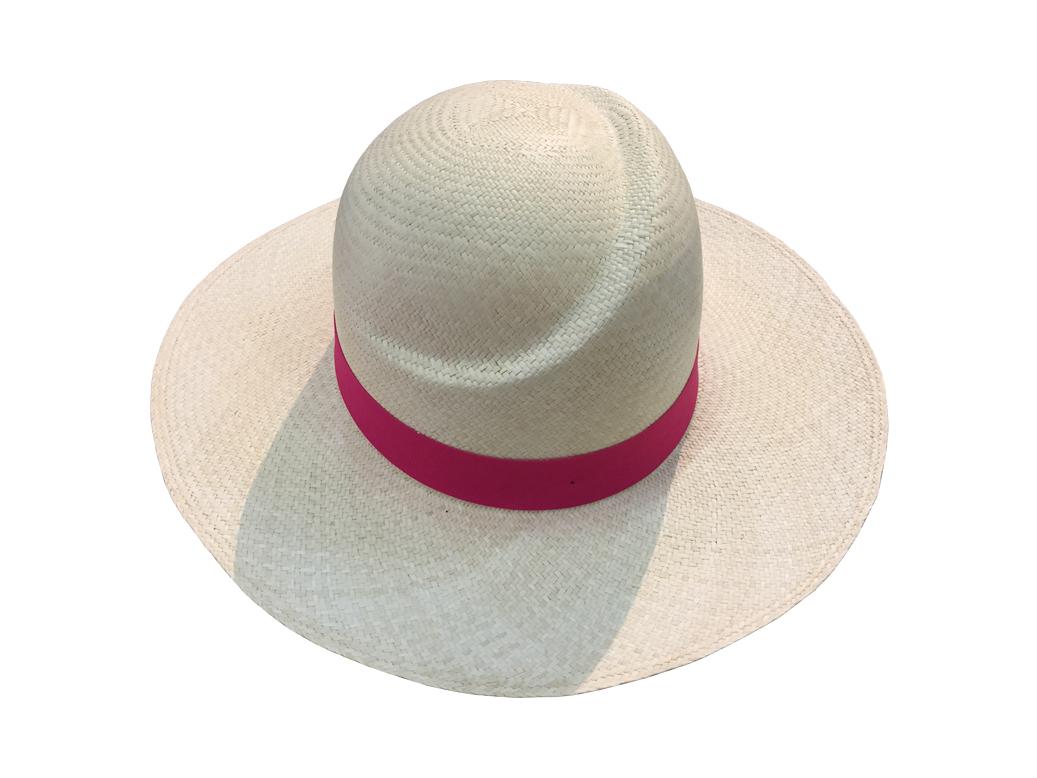 Sombrero Pamela de Jipi para Dama Ala Corta Copa Media-Luna ... f7aa23388d9