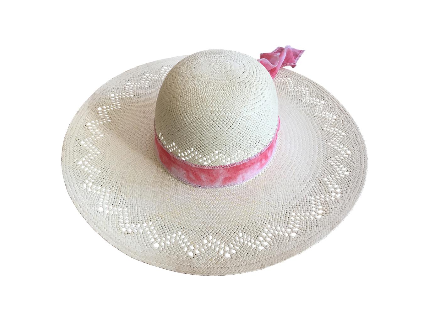 Sombrero Pamela para Dama de Ala Extra-Grande Calado de Jipi ... 54fa0649a39