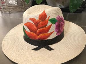 Sombrero Vquero Panamá al óleo