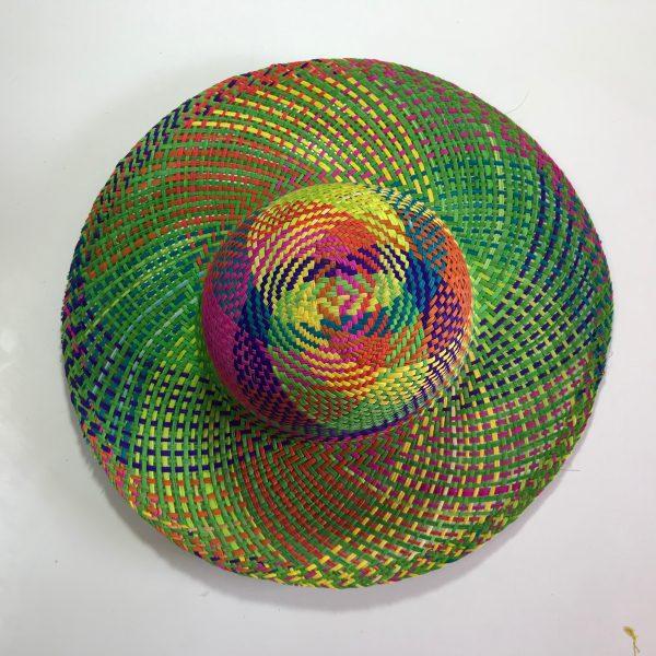 Sombrero de colores para dama de palma de Jipi