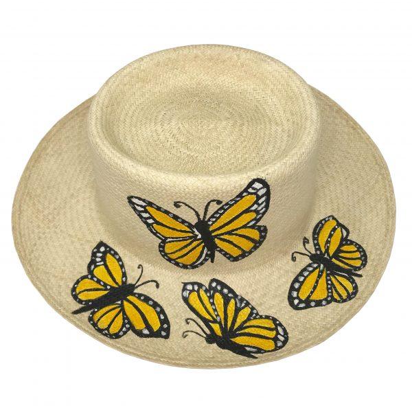 Sombrero Canotier Pintado a mano
