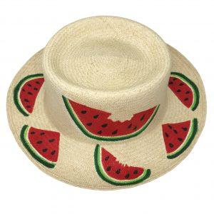 Sombrero redondo pintado