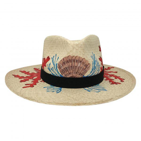 Sombrero con corales pintados