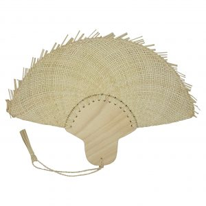 Abanico fijo de palma de Jipi